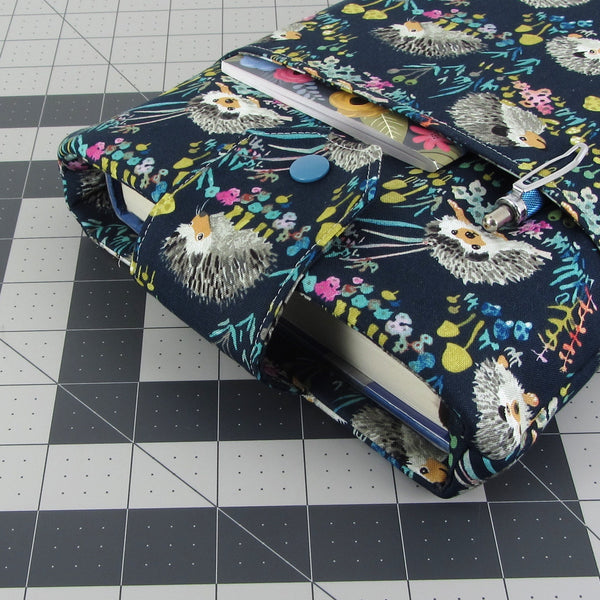 Handmade Hedgehog Fabric Book Sleeve