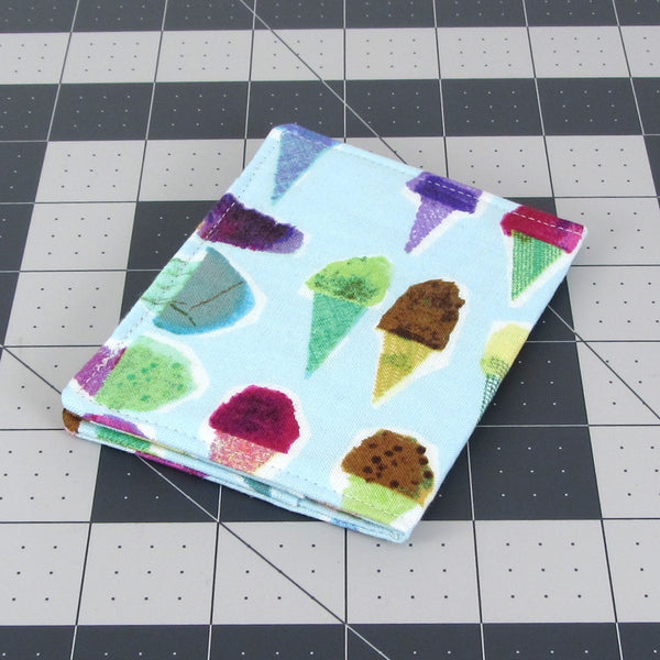 Handmade Ice Cream Cone Slim Women's Credit Card Wallet