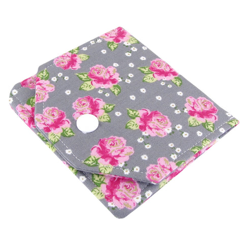 handmade rose fabric women's small wallet