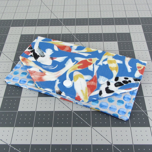 Handmade Koi Fish Fabric Women's Clutch Wallet