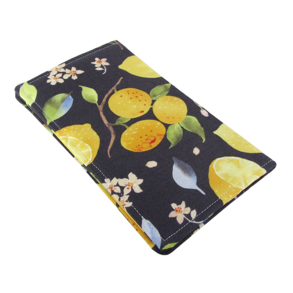 Handmade Lemon And Orange Fabric Women's Checkbook Cover