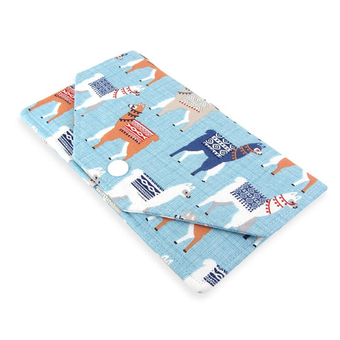 Handmade llama Fabric Women's Cash Envelope Wallet