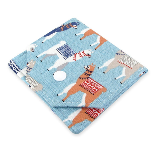 Handmade Llama Fabric Women's Small Wallet