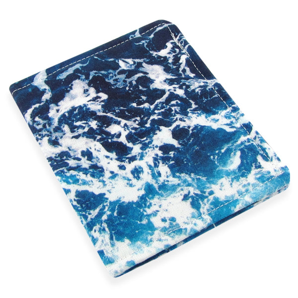 Handmade Ocean Fabric Slim Women's Credit Card Wallet