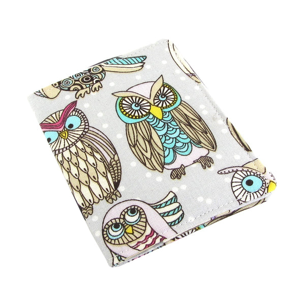 Handmade Owl Slim Women's Credit Card Wallet