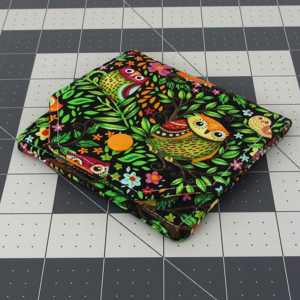 Handmade Owl Fabric Women's Small Wallet