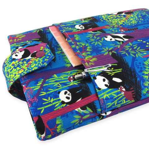 Handmade Panda Fabric Book Sleeve
