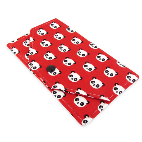 Handmade Panda Fabric Women's Cash Envelope Wallet