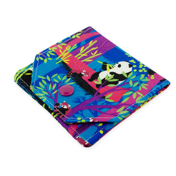 Handmade Panda Fabric Women's Small Wallet
