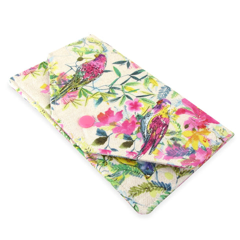Handmade Parrot Fabric Women's Cash Envelope Wallet