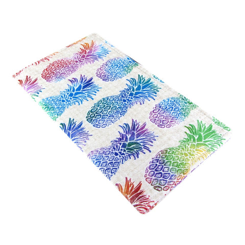 handmade pineapple fabric women's checkbook cover