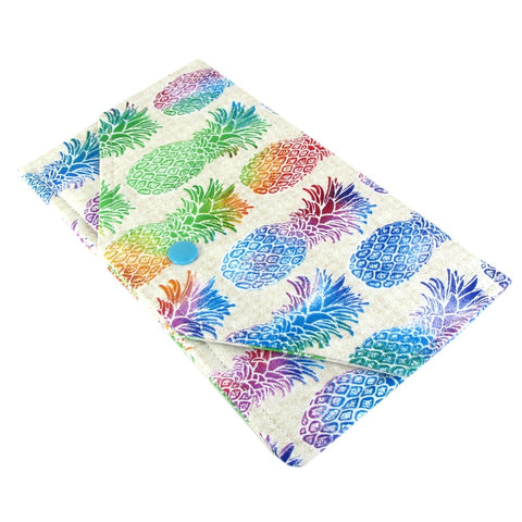 pineapple fabric women's clutch wallet