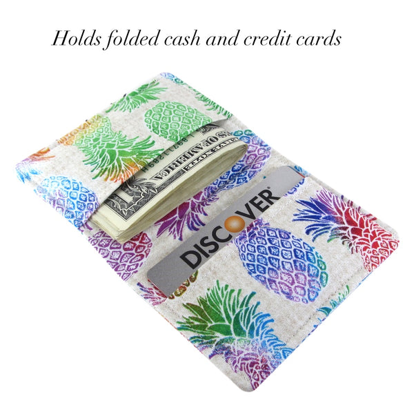 pineapple handmade travel wallet