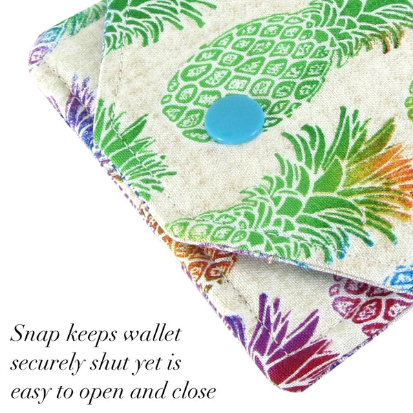 pineapple fabric women's mini wallet