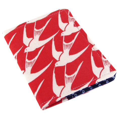 Fabric bird women's credit card wallet