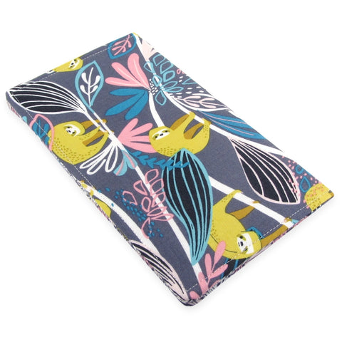 Handmade Sloth Fabric Women's Checkbook Cover