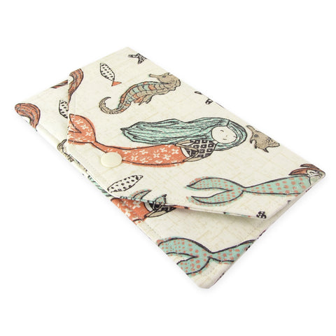 Handmade Mermaid Fabric Women's Cash Envelope Wallet