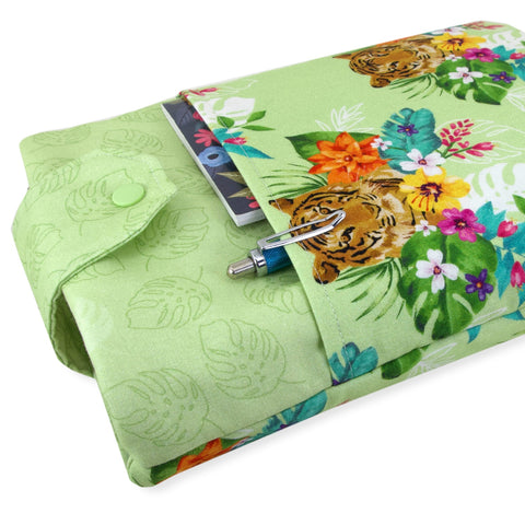 Handmade Tiger Fabric Book Sleeve