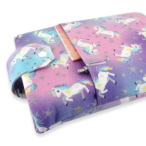 Handmade Unicorn Fabric Book Sleeve