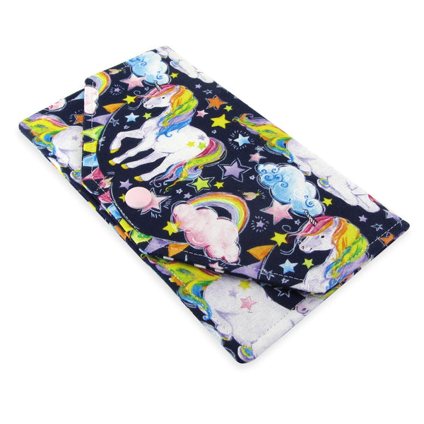 Handmade Unicorn Fabric Women's Cash Envelope Wallet
