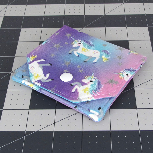Handmade Unicorn Fabric Women's Small Wallet