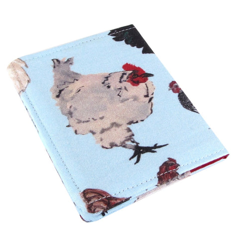 Five Sprouts Stitching Slim watercolor chicken women's credit card wallet