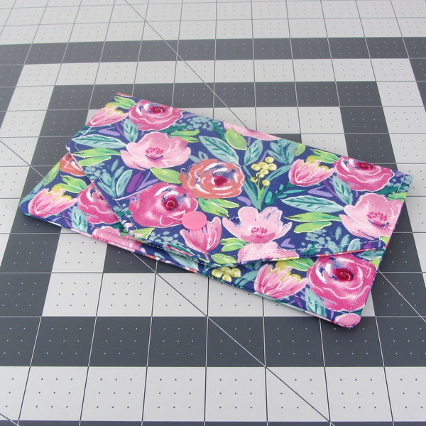 Handmade Flower Fabric Women's Cash Envelope Wallet
