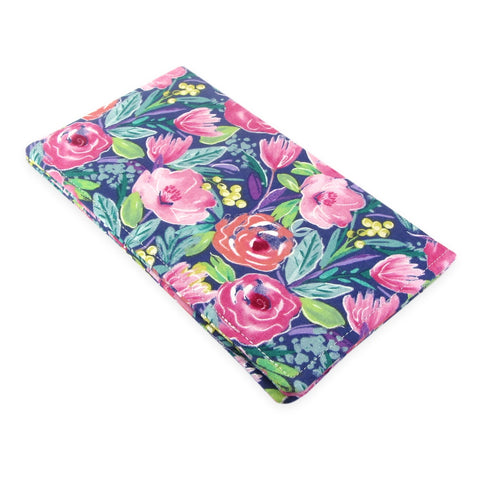 Handmade Floral Fabric Women's Checkbook Cover