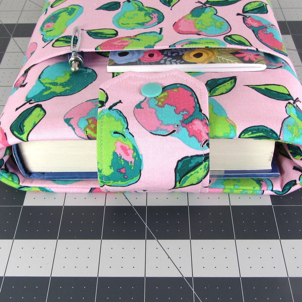 Handmade Pear Fabric Book Sleeve