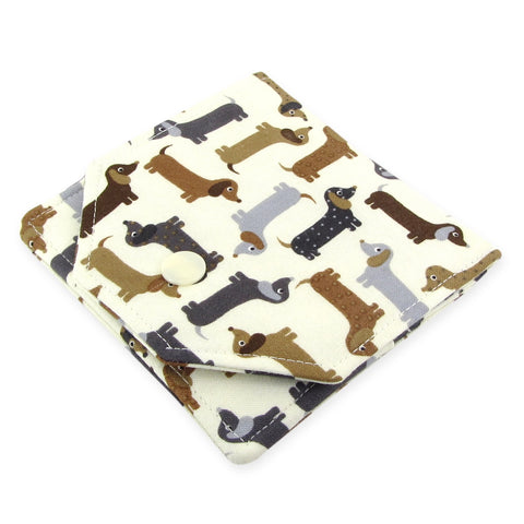 Handmade Weiner Dog Dachshund Fabric Women's Small Wallet