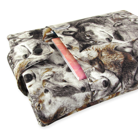 Handmade Wolf Fabric Book Sleeve