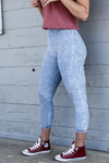 Blue Vintage Wash MOTO Leggings