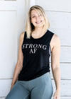 Strong AF Muscle Tank - Black