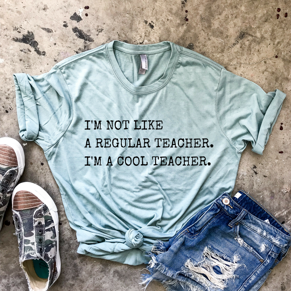 I'm a Cool Teacher Sea-foam Green Unisex Tee