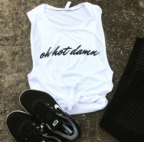 Killing It - White Muscle Tank