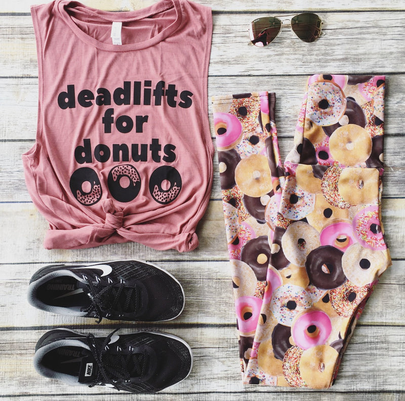 Deadlifts for Donuts - Muave Tank