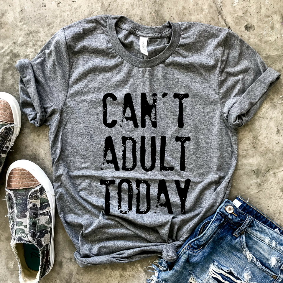 Cant Adult Today Grey Unisex Tee