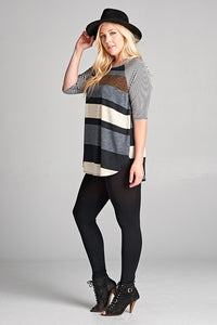 Chestnut Striped Top