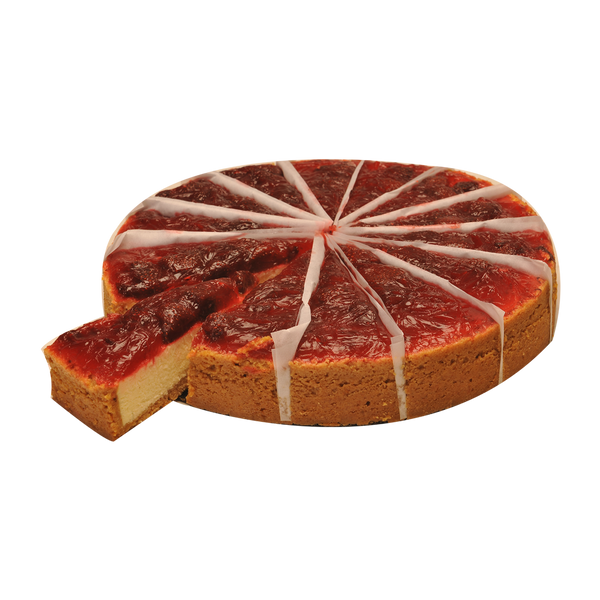BC02 -  14cut Strawberry Topped Cheese Cake _ تشيز كيك بالفرولة