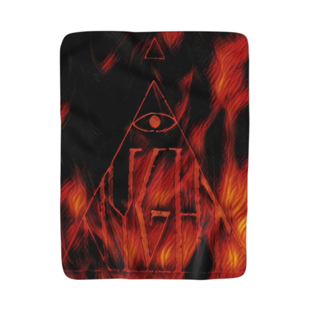 Fire Sherpa Fleece Blanket-Home Decor-Printify-50x60-Nyght