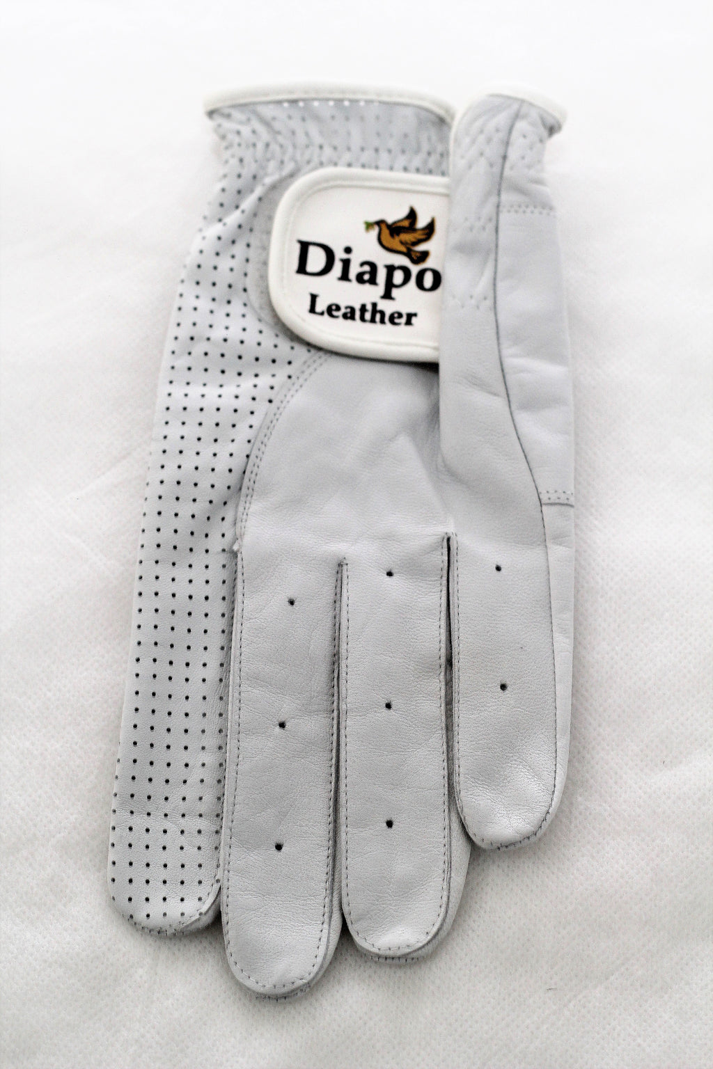 Diapo Leather Women's Left White Golf Vegetable Tanned Leather Gloves      30% OFF