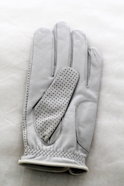 Diapo Leather Women's Left White Golf Vegetable Tanned Leather Gloves