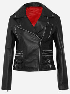 Women's Cowhide Vegetable Tanned Leather Jacket