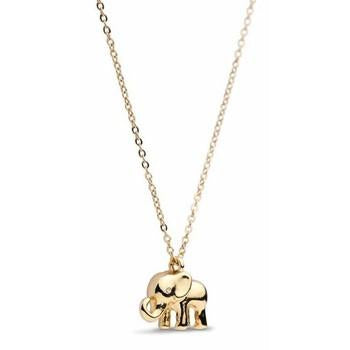14K Shiny Gold Plated Elephant Necklace