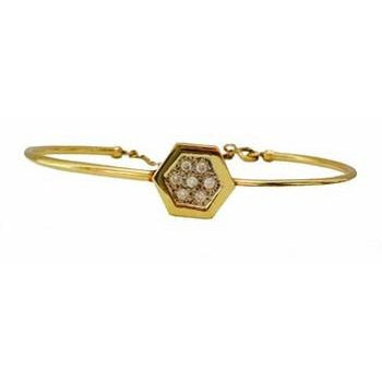 Hexagon Cuff Bracelet