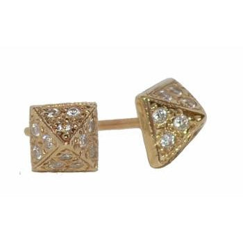 Spike Pave Diamond Stud Earrings