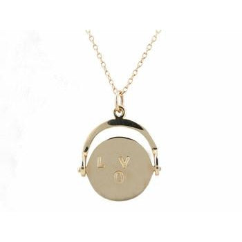 'I Love You' Gold Spinner Necklace
