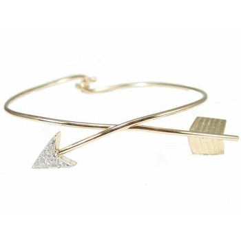 Pave Diamond Arrow Bangle Bracelet