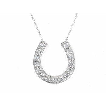 Large Diamond Horseshoe Necklace (as seen on