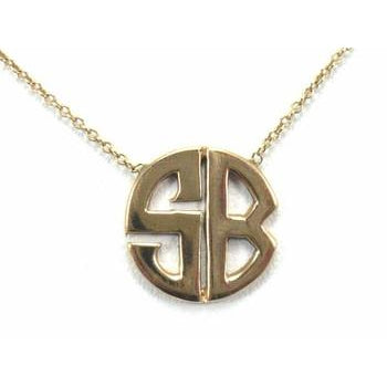 Gold Deco Initial Necklace